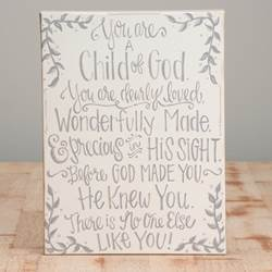 You are a Child of God Table Top Canvas