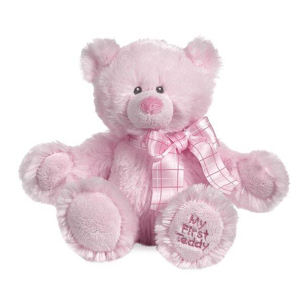 My First Teddy Bear Pink Plush