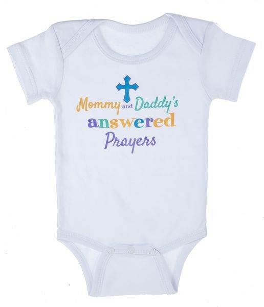 Mommy and Daddy Prayers Answered Onsie