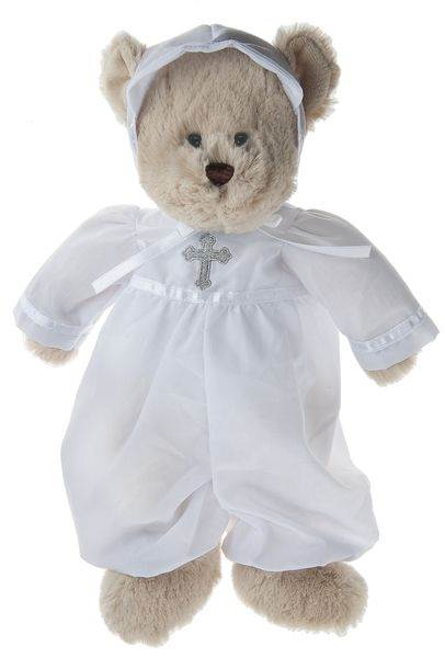 Christening Brown Bear in Suit