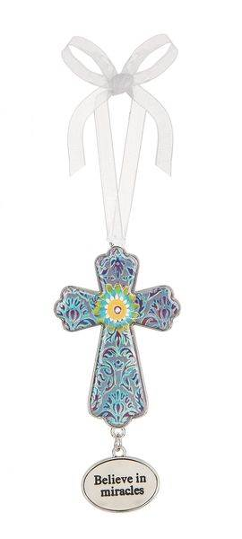 Believe in Miracles Cross Ornament