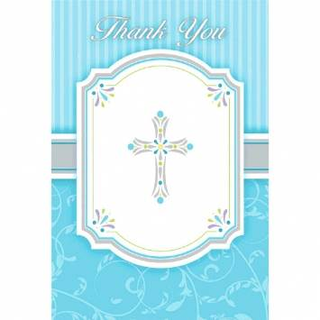 Blue Blessings Thank You Cards
