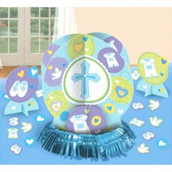 Christening Table Decorations Blue