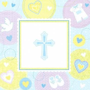 Christening Luncheon Napkins Blue
