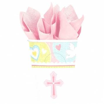 Sweet Christening Pink Cups first communion decorations, first communion party supplies, sacramental decorations, communion party, paper products, party supplies, party cups, beverage cups, pink cups, 589422