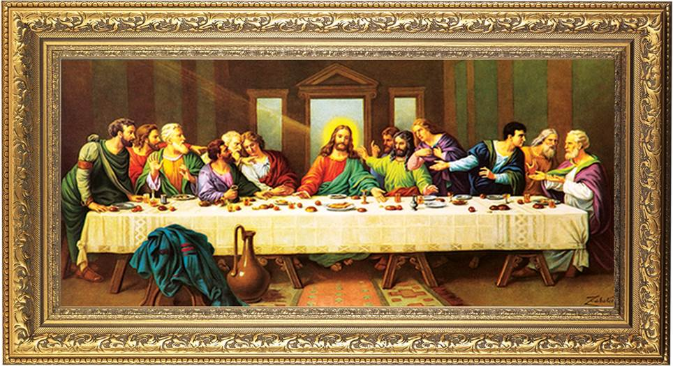 The Last Supper Framed Wall Art