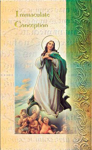 Immaculate Conception Biography Card
