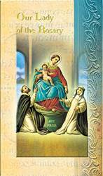 Our Lady of  The Rosary Biography Card