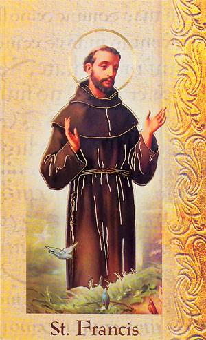 St. Francis of Assisi Biography Card