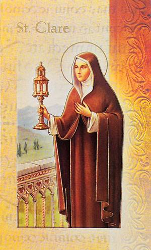 St. Clare Biography Card
