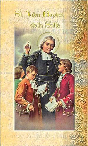 John Baptist De La Salle Biography Card