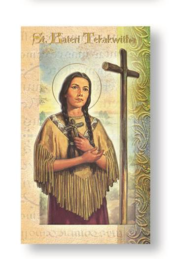 St. Kateri Tekakwitha Biography Card