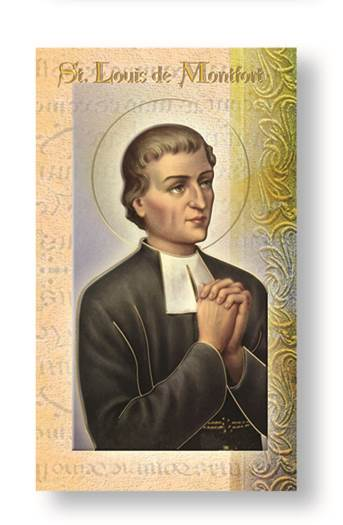 St. Louis De Montfort Biography Card
