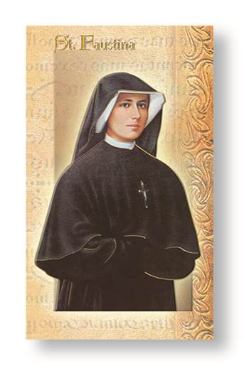 St. Maria Faustina Biography Card