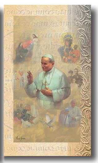 Pope John Paul II Biography Card