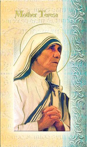 Mother Teresa Biography Card MT,