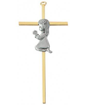 Brass Girl Cross