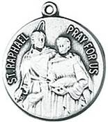 St. Raphael Medal on Chain