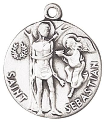 St. Sebastian Medal on Chain