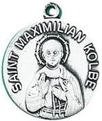 St. Maximilian Kolbe Medal on Chain