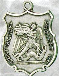 St. Michael Badge Medal on Chain