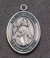 St. Kevin Oval Medal on Chain