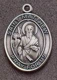 St. Matthew Oval Medal on Chain