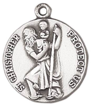 St. Christopher Medal on Chain