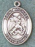 St. Michael Oval Medal on Chain