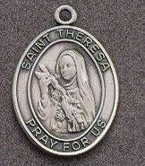 St. Therese Oval Medal on Chain