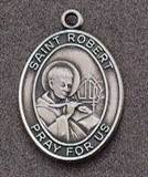 St. Robert Oval Medal on Chain