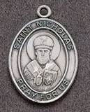 St. Nicholas Oval Medal on Chain