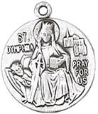 St. Dymphna Medal on Chain