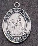 St. Catherine Oval Medal on Chain