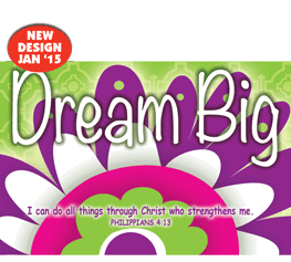 Pass It On-Dream Big 29159,message cards, holy cards, bookmarks, prayer cards, thougts, card to share, group gifts, inspirational gift, sacramental gifts,