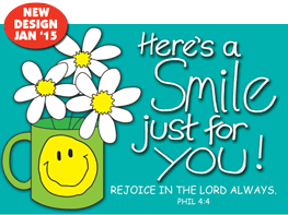Pass It On-Heres a Smile 29157,message cards, holy cards, bookmarks, prayer cards, thougts, card to share, group gifts, inspirational gift, sacramental gifts,