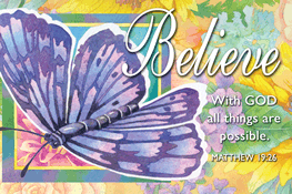 Pass It On-Believe message cards, holy cards, bookmarks, prayer cards, thougts, card to share, group gifts, inspirational gift, sacramental gifts,