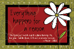 Pass It On-Everything Happens for a Reason 29110, message cards, holy cards, bookmarks, prayer cards, thougts, card to share, group gifts, inspirational gift, sacramental gifts,