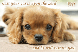 Pass It On-Cast Your Cares Upon the Lord 29036, message cards, holy cards, bookmarks, prayer cards, thougts, card to share, group gifts, inspirational gift, sacramental gifts,