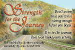 Pass It On-Strength for the Journey 28023, message cards, holy cards, bookmarks, prayer cards, thougts, card to share, group gifts, inspirational gift, sacramental gifts,