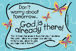 Pass It On-Dont Worry about Tomorrow 28009, message cards, holy cards, bookmarks, prayer cards, thougts, card to share, group gifts, inspirational gift, sacramental gifts,