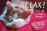 Pass It On-Relax! 27974,  message cards, holy cards, bookmarks, prayer cards, thougts, card to share, group gifts, inspirational gift, sacramental gifts,