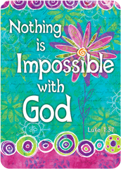 Verse Cards-Nothing is Impossible with God