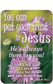 Verse Cards-You Can Put Your Trust in Jesus