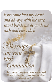 Verse Cards-Blessings on Your First Communion
