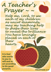 Verse Cards-A Teacher's Prayer