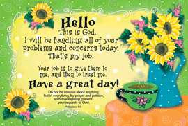 Hello this is God-Small Poster 34860,poster. wall decor, small poster, inspirational message, teacher resource, school supplies, sunday school, classroom,