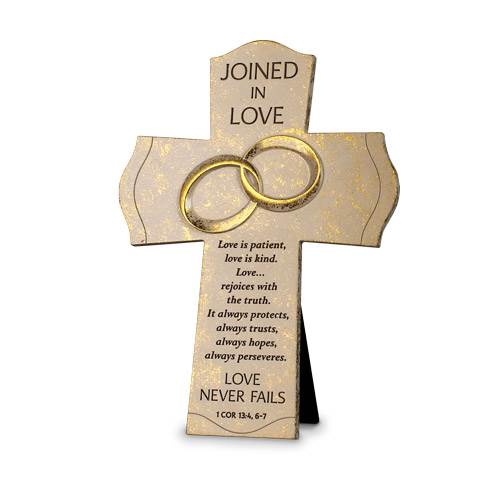 "7"" Standing Cross Joined in Love"