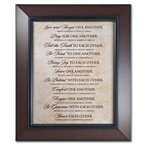"18"" Love One Another Wall Decor"
