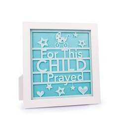 "10"" For This Child Standing Plaque baby plaque, wall plaque, baby shower gift, new baby gift, baby room, 11608"
